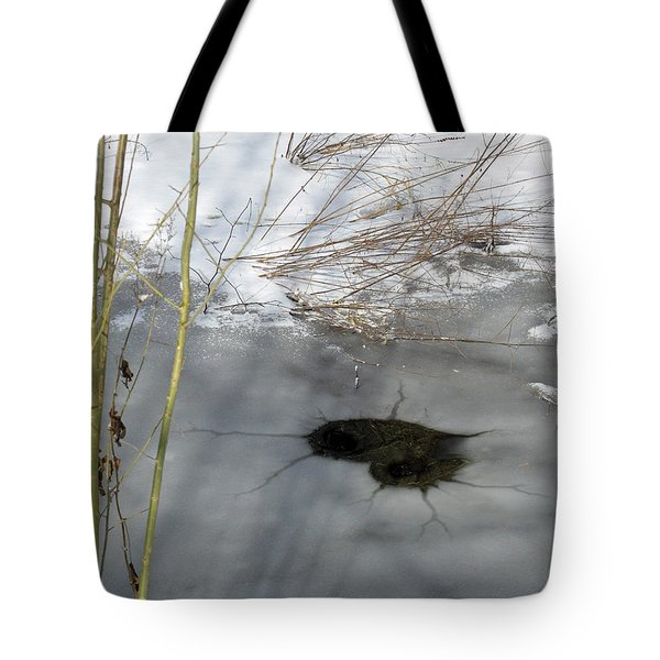 On The River. Heart In Ice 02 Tote Bag by Ausra Huntington nee Paulauskaite