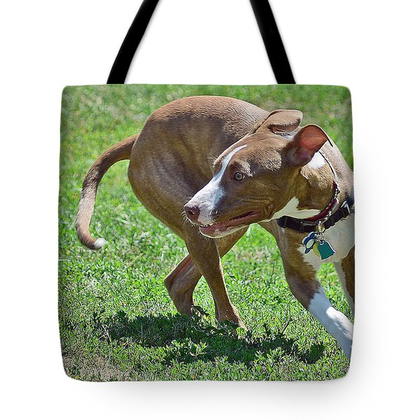 On The Run Tote Bag by Lisa Phillips