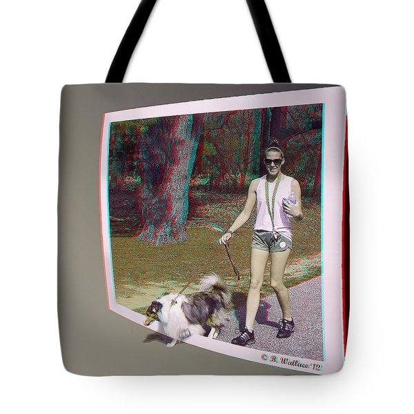 On The Trail - Red-Cyan 3D glasses required Tote Bag by Brian Wallace