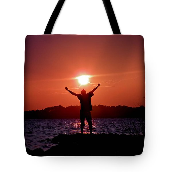 On Top Of The World Tote Bag by Trish Tritz