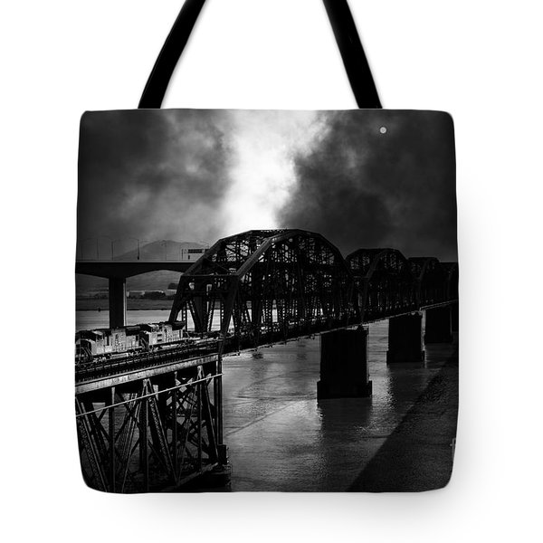 Once Upon A Time In The Story Book Town Of Benicia California - 5d18849 - Black And White Tote Bag by Wingsdomain Art and Photography