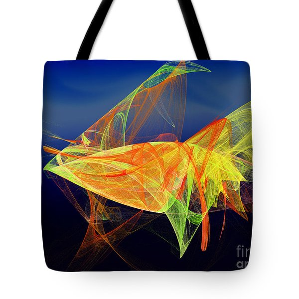 One Fish Rainbow Fish Tote Bag by Andee Design