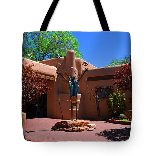 One Of The Many Art Galleries In Santa Fe Tote Bag by Susanne Van Hulst