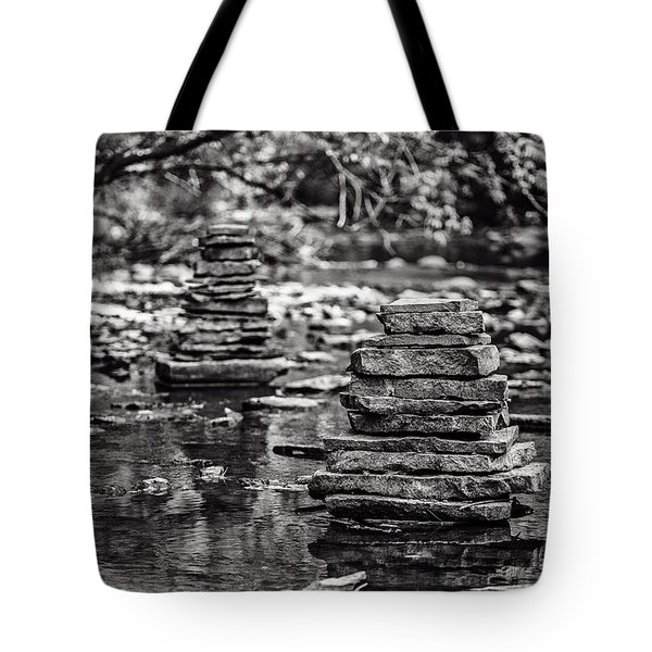 One On Top Of Another Tote Bag by CJ Schmit