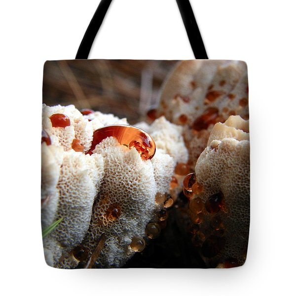 Oozing Fungus Tote Bag by Chad and Stacey Hall