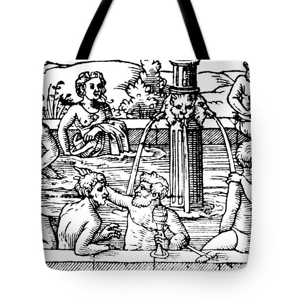 Open-air Bath Balneology 1571 Tote Bag by Science Source