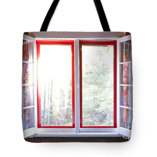 Open Window In Cottage Tote Bag by Elena Elisseeva