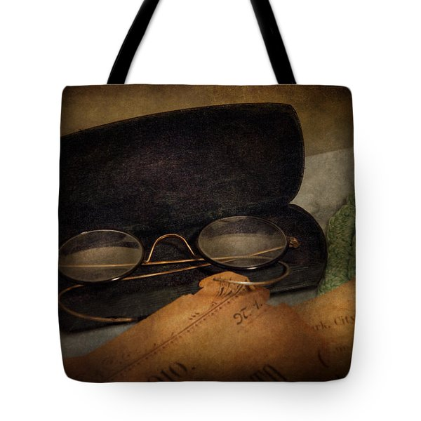 Optometrist - Glasses for Reading  Tote Bag by Mike Savad