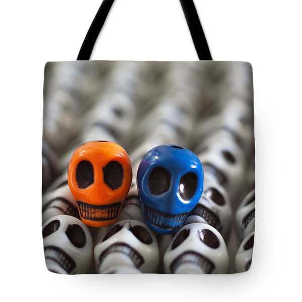 Orange And Blue Tote Bag by Mike Herdering