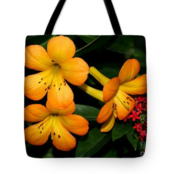 Orange Rhododendron Flowers Tote Bag by Sabrina L Ryan