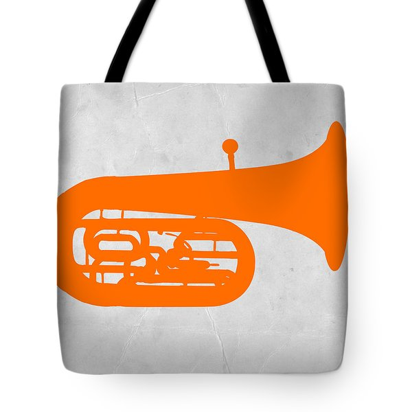 Orange Tuba Tote Bag by Naxart Studio