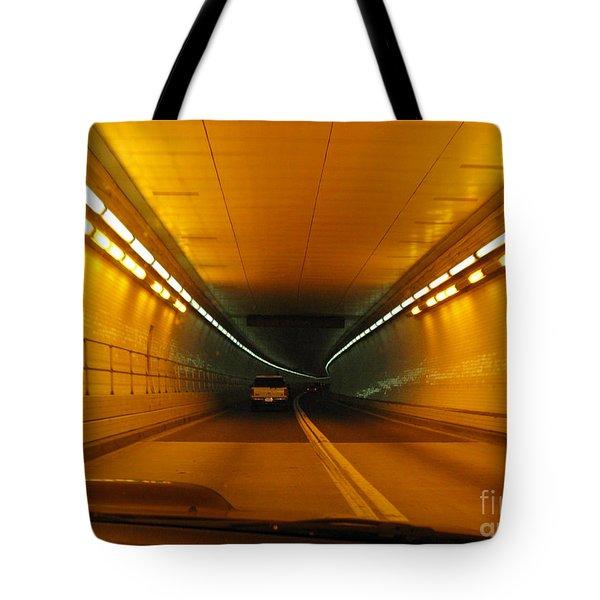 Orange Tunnel In Dc Tote Bag by Ausra Huntington nee Paulauskaite