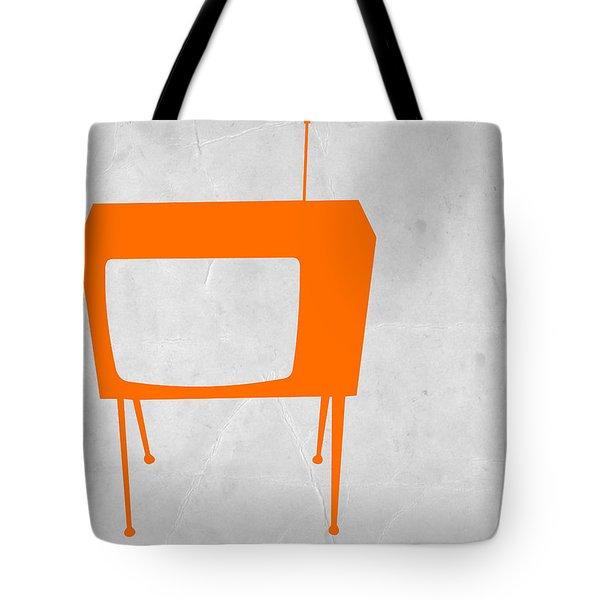 Orange Tv Tote Bag by Naxart Studio