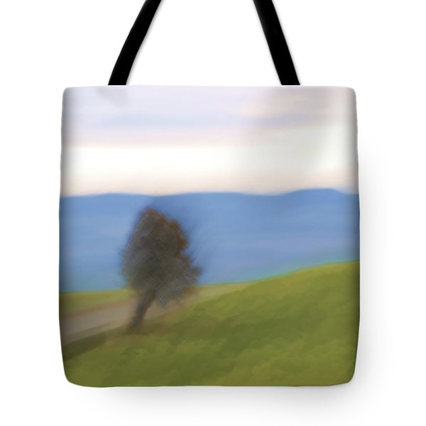 Oregon Country Road Tote Bag by Carol Leigh