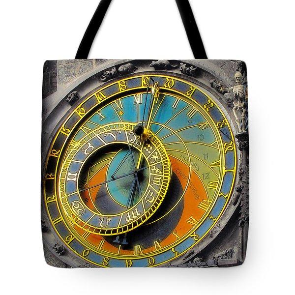 Orloj - Astronomical Clock - Prague Tote Bag by Christine Till