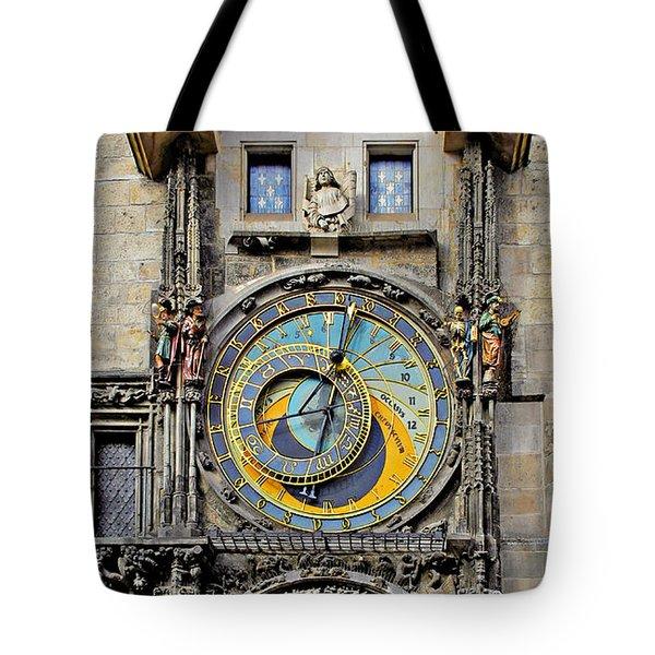 Orloj - Prague Astronomical Clock Tote Bag by Christine Till