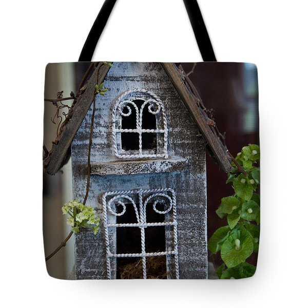 Ornamental Bird House Tote Bag by Douglas Barnett