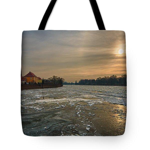 Ostrow Tumski Tote Bag by Sebastian Musial