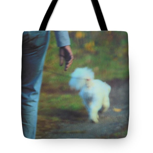 Out for a Stroll Tote Bag by Karol  Livote