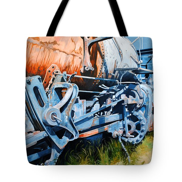 Out Of Gear Tote Bag by Chris Steinken