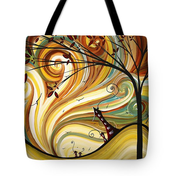 OUT WEST Original MADART Painting Tote Bag by Megan Duncanson