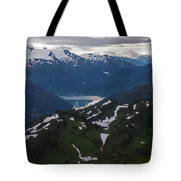 Over Alaska Tote Bag by Mike Reid