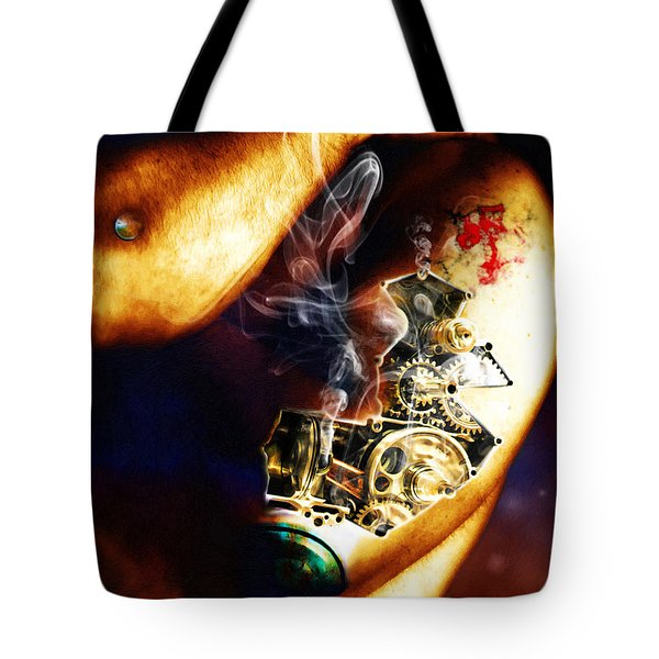 Over Worked Tote Bag by Adam Vance