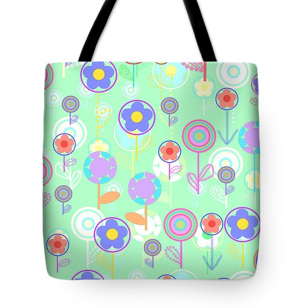 Overlayer Flowers  Tote Bag by Louisa Knight