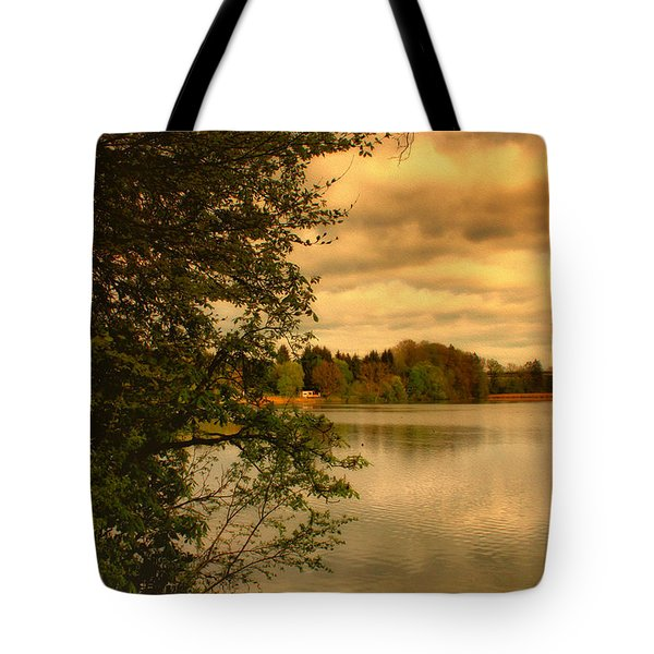 Overlooking The Lake Tote Bag by Jutta Maria Pusl