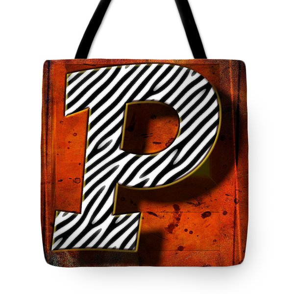 P Tote Bag by Mauro Celotti
