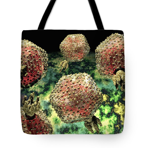 P22 Bacteriophages Tote Bag by Russell Kightley