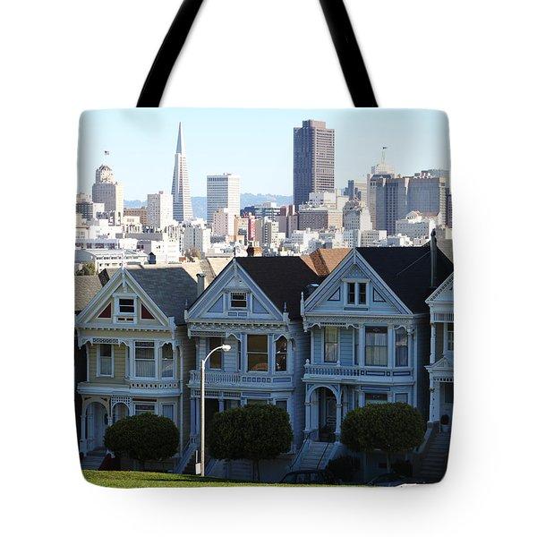 Painted Ladies Tote Bag by Linda Woods