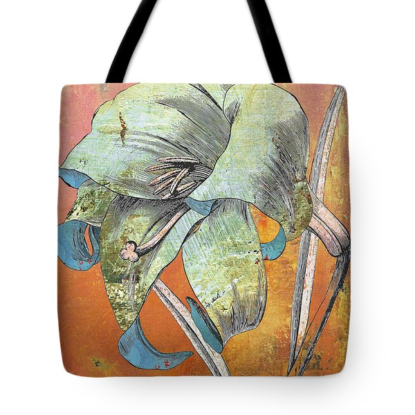 Painterly Lilly Tote Bag by Anahi DeCanio