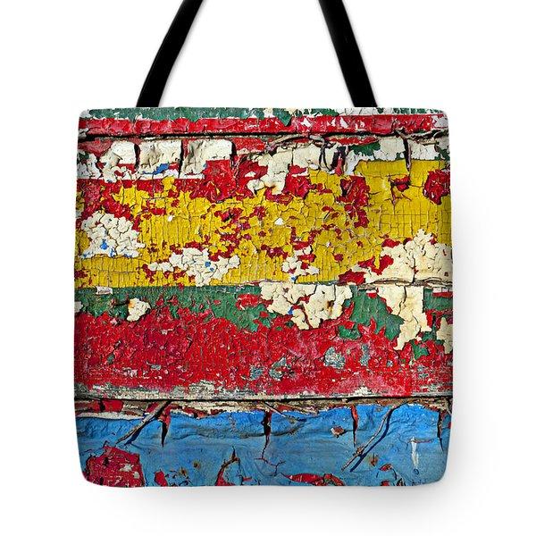 Painting peeling wall Tote Bag by Garry Gay