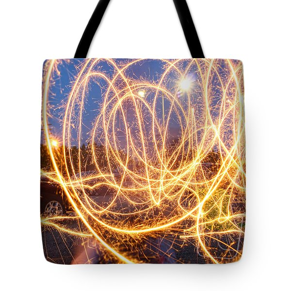 Painting With Sparklers Tote Bag by Gordon Dean II