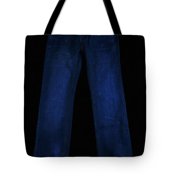 Pair Of Jeans 1 - Painterly Tote Bag by Wingsdomain Art and Photography