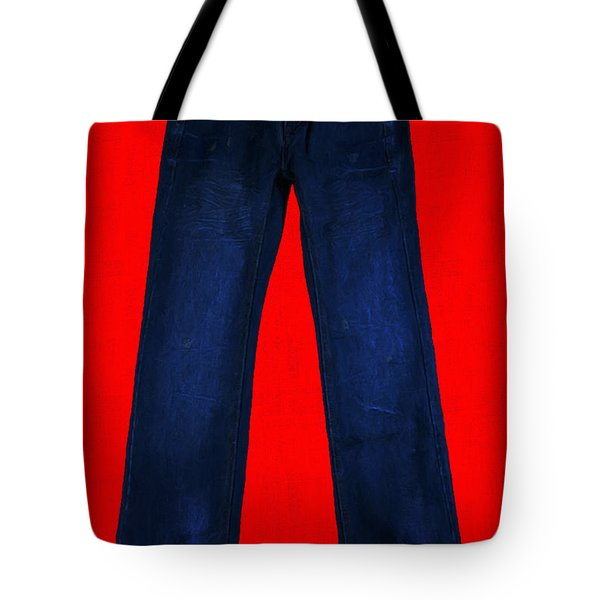 Pair of Jeans 2 - Painterly Tote Bag by Wingsdomain Art and Photography