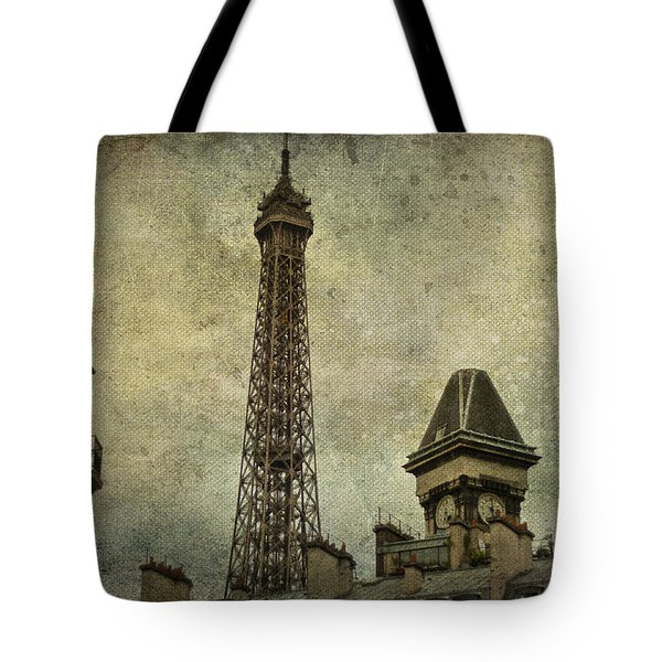 Pale Paris Tote Bag by Nomad Art And  Design