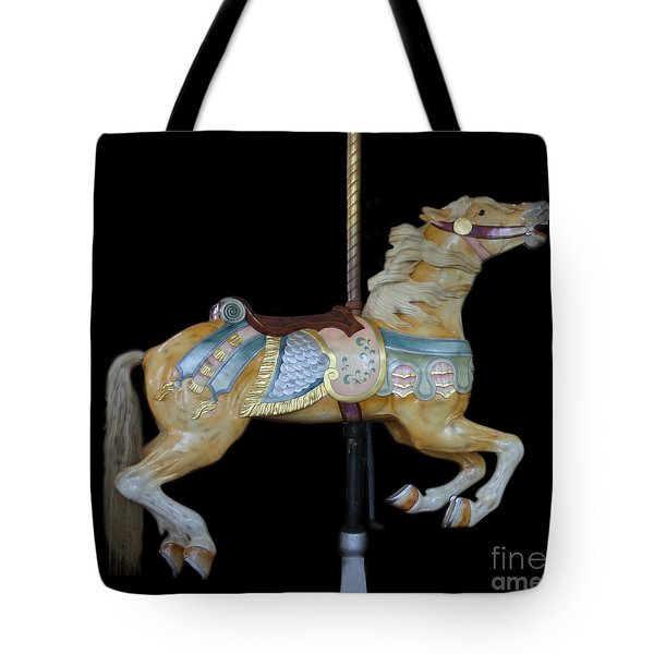 Palomino Carousel Horse Tote Bag by Cindy Lee Longhini