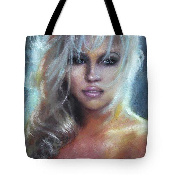 Pamela Anderson Tote Bag by Ylli Haruni