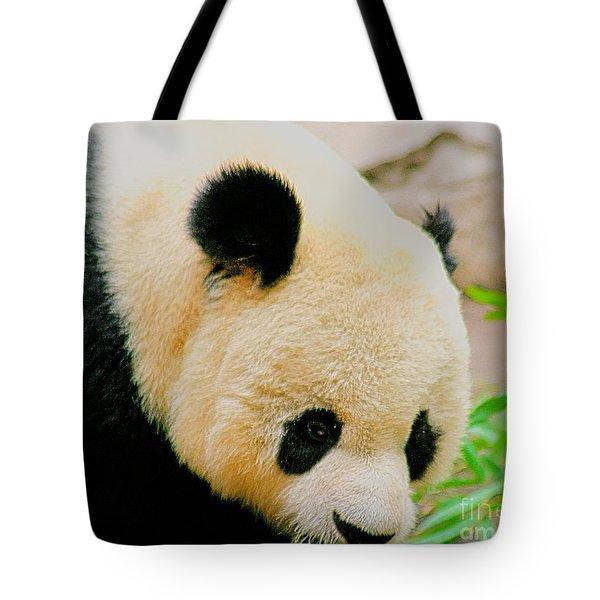 Panda  Tote Bag by Cheryl Young