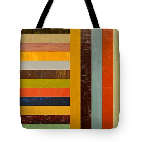Panel Abstract - Digital Compilation Tote Bag by Michelle Calkins