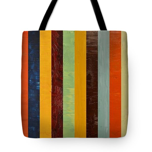 Panel Abstract lll  Tote Bag by Michelle Calkins