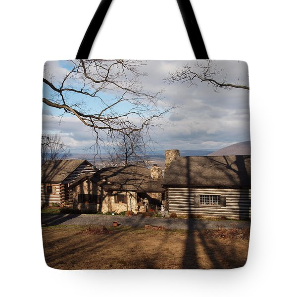 Papa Toms Cabin In The Woods Tote Bag by Robert Margetts