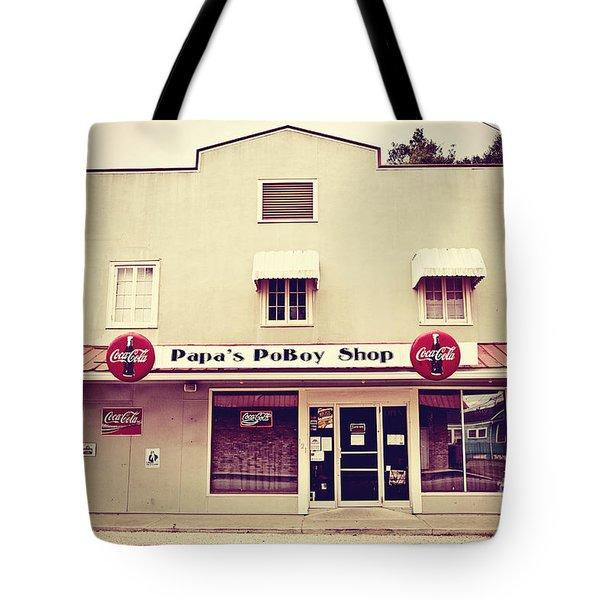 Papa's PoBoy's Tote Bag by Scott Pellegrin