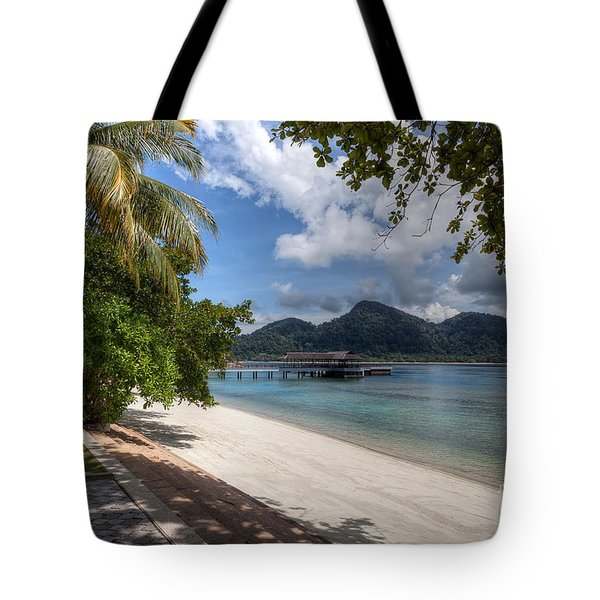 Paradise Island Tote Bag by Adrian Evans