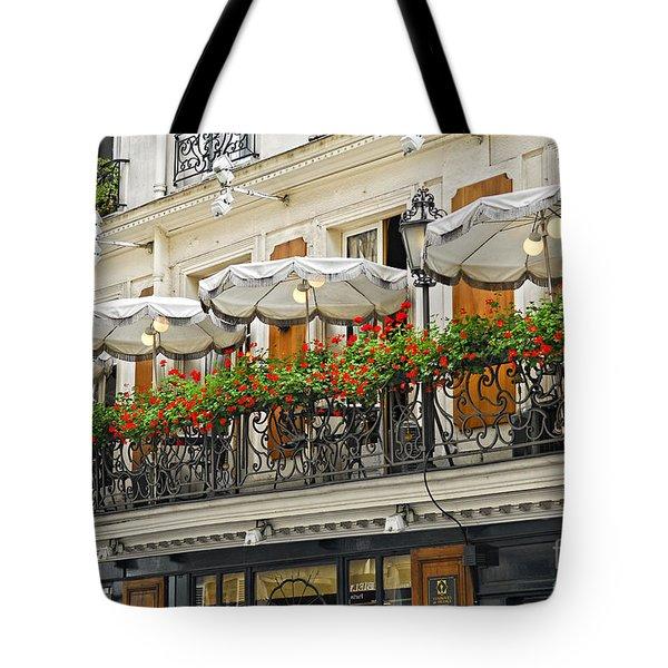 Paris Cafe Tote Bag by Elena Elisseeva