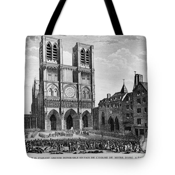 Paris: Notre Dame, 1790 Tote Bag by Granger