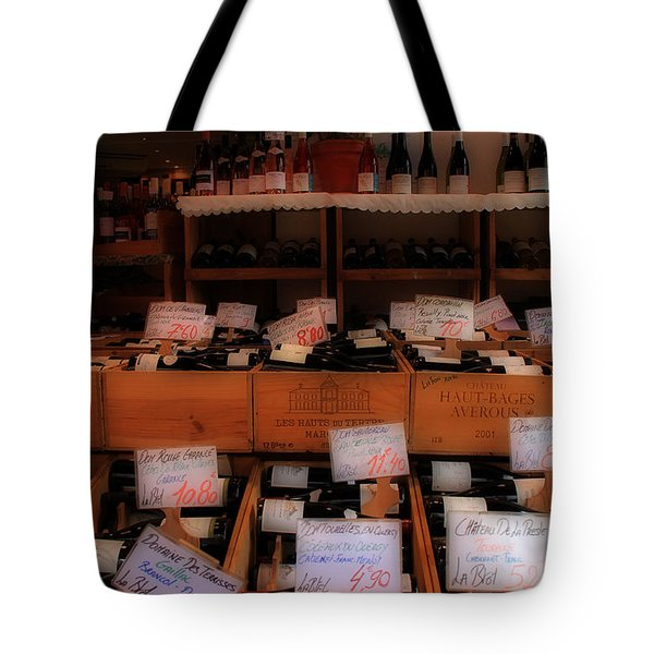 Paris Wine Shop Tote Bag by Andrew Fare