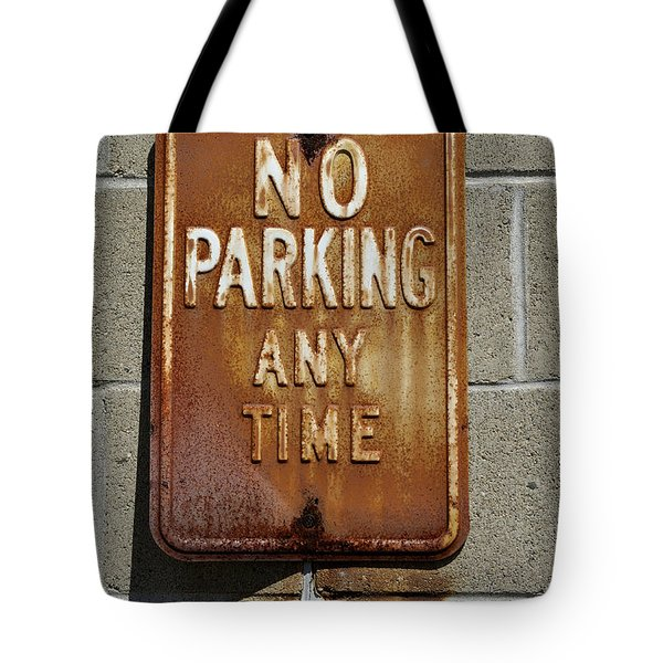Park Here Tote Bag by Luke Moore